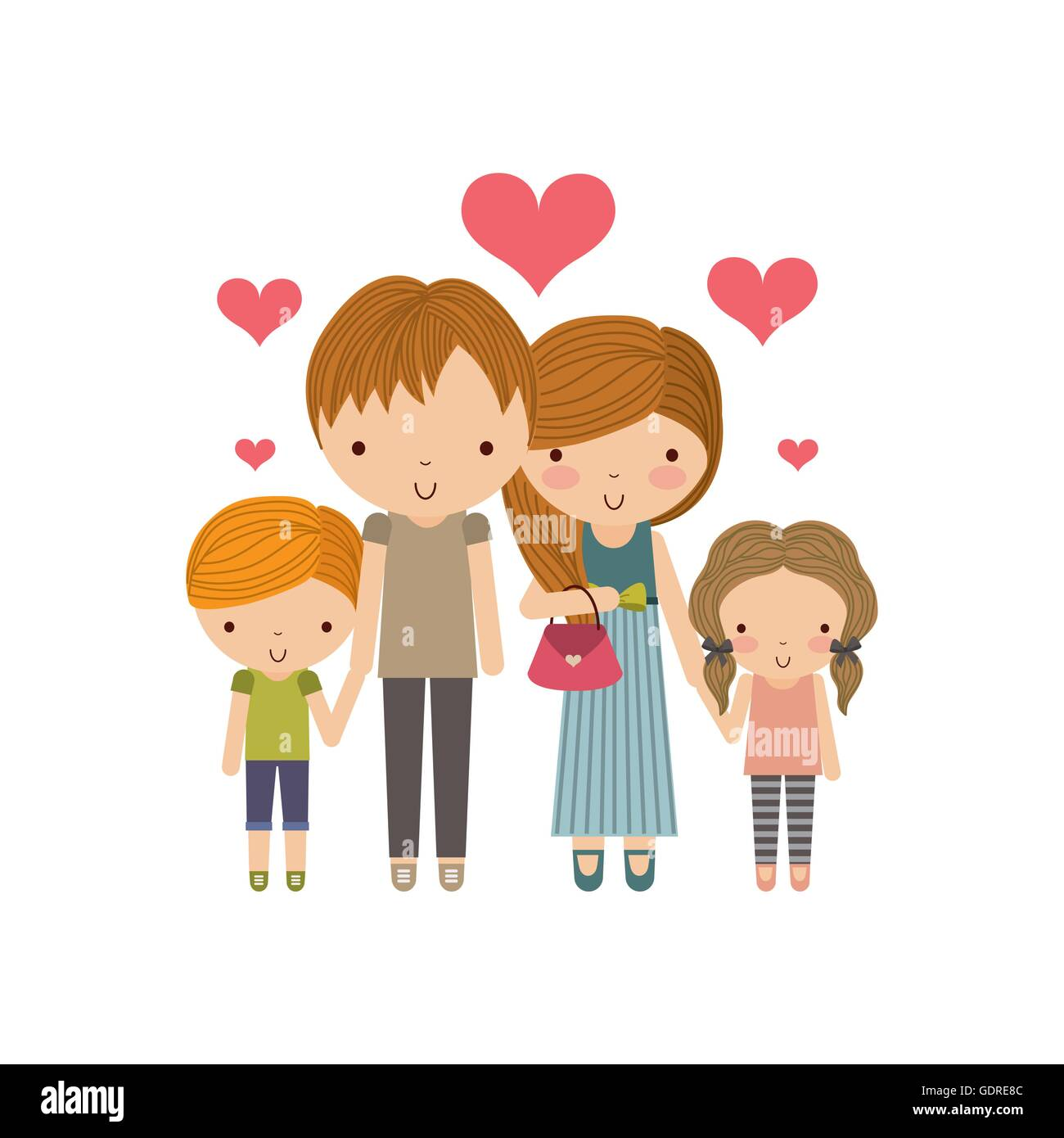 Parents And Kids Icon Family And Cute People Design Vector Gra Stock Vector Image Art Alamy