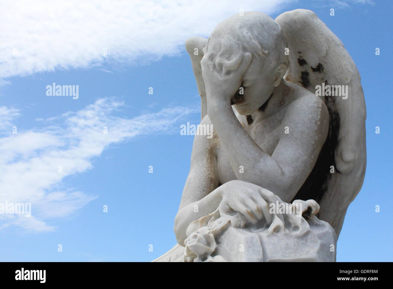 Angel in the Old San Juan Cemetery , Puerto Rico - Stock Image