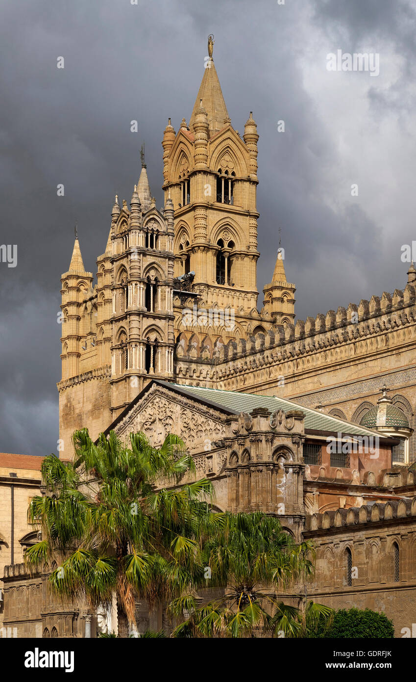 Cathedral, Palermo, Sicily, Italy - Stock Image