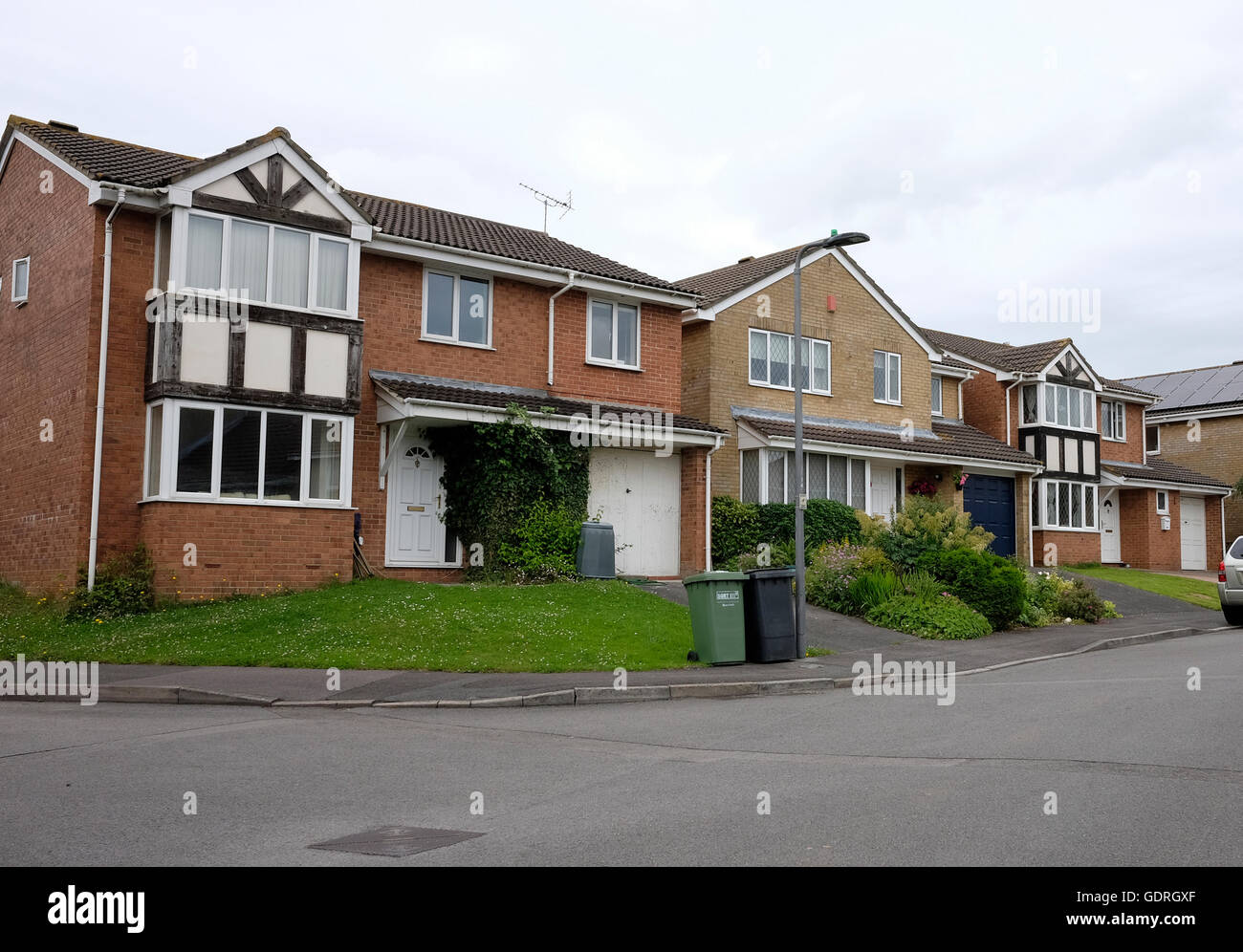 Row Of Typically British Houses From The Late 20th Century These Are In Bradley Stoke To The North Of Bristol June 2016