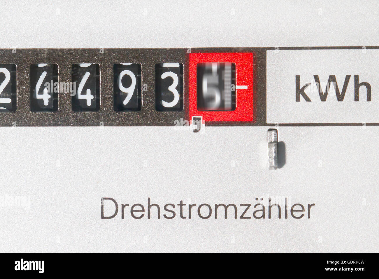 Electric meter in a house - Stock Image