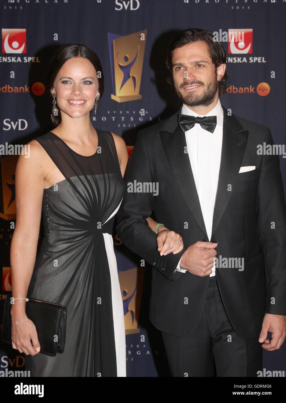 The Swedish Prince  CARL PHILIP with his future wife Sofia Hellqvist at Swedish sport gala - Stock Image