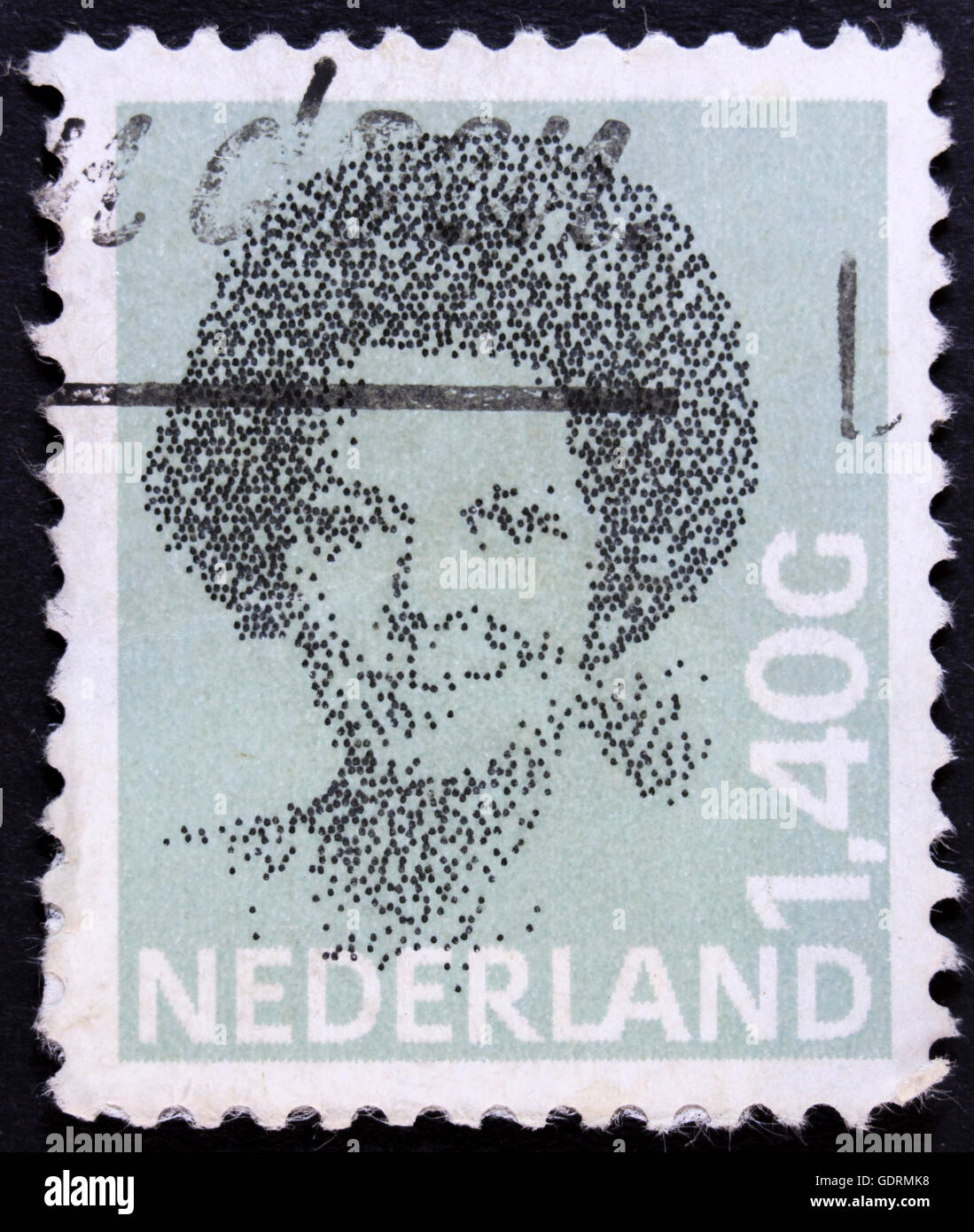 Netherlands- CIRCA 1983: Beatrix has been the Queen regnant of the Kingdom of the Netherlands since 30 April 1980, - Stock Image