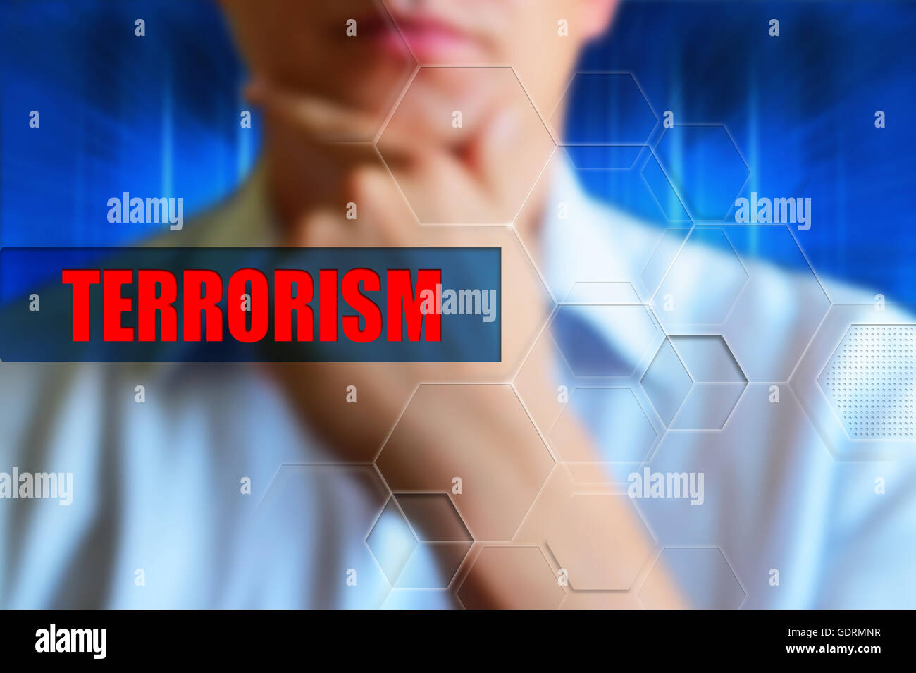 Terrorism abstract - Stock Image