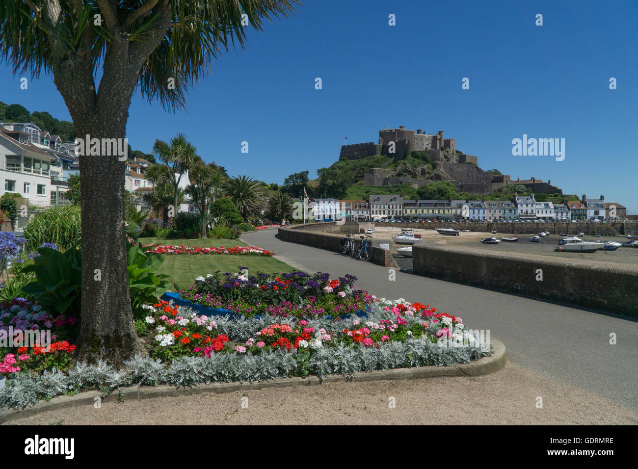 Seafront flower gardens flowers stock photos seafront for Garden design jersey channel islands