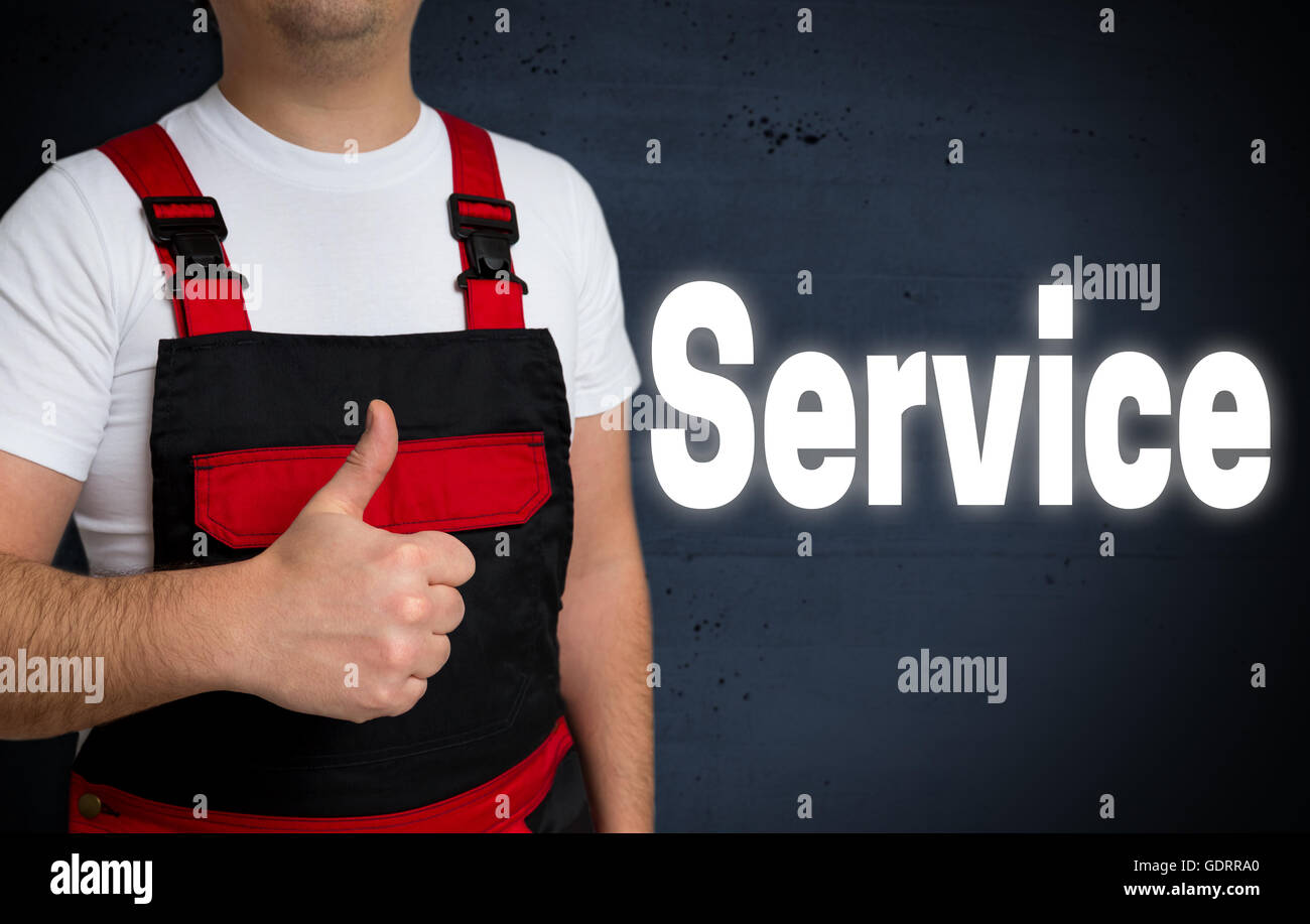 service is shown by craftsman concept. - Stock Image