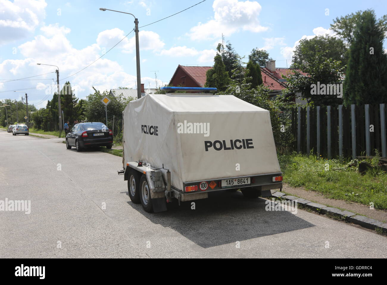 Ostrava, Czech Republic. 20th July, 2016. Police shot dead debtor who shot and wounded distraint officer and woman - Stock Image