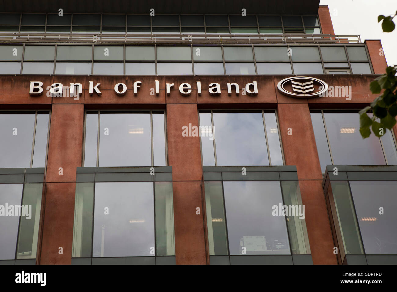 Donegall Square South, Belfast, UK. 20th July 2016 The Front the Head Quarters of Bank of Ireland. Eight Branches - Stock Image