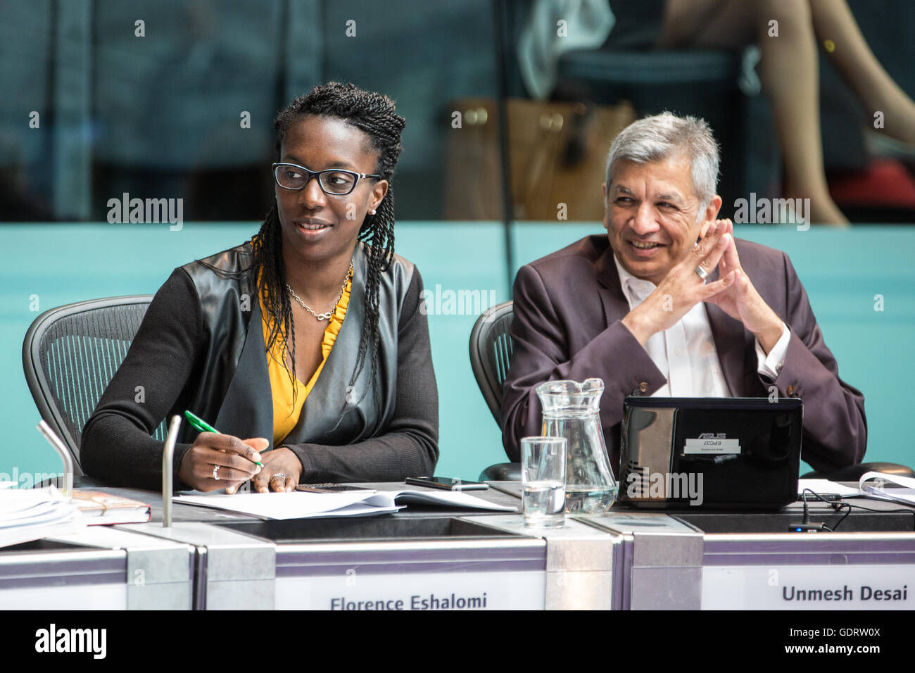 London, UK. 20th July, 2016. Labour London Assembly Members Florence Eshalomi and Unmesh Desai at Mayor's Question - Stock Image