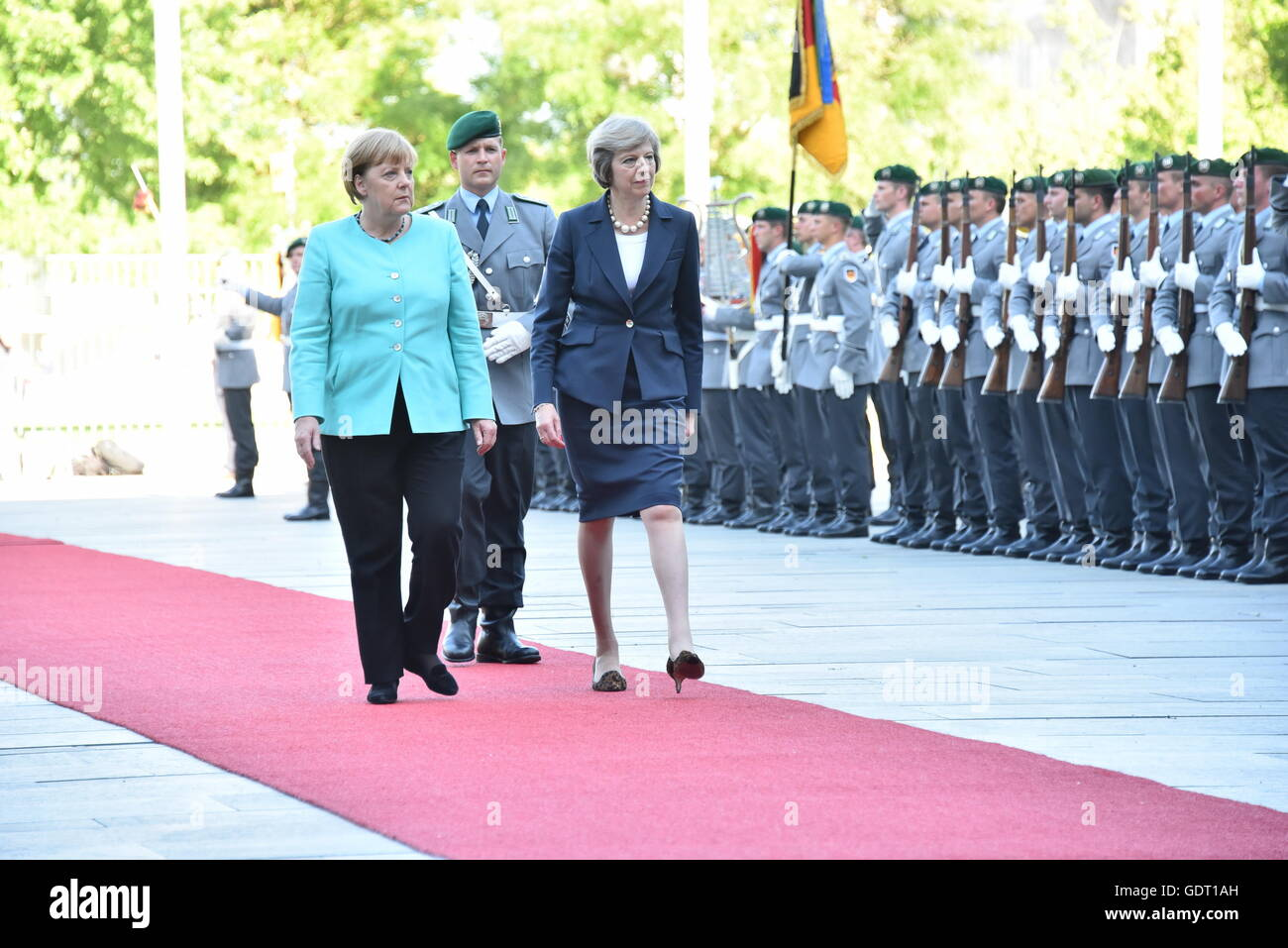 Berlin, Germany. 20th July, 2016. British Prime Minister Theresa May meets German Chancellor Angela Merkel/Brexit/EU/in - Stock Image