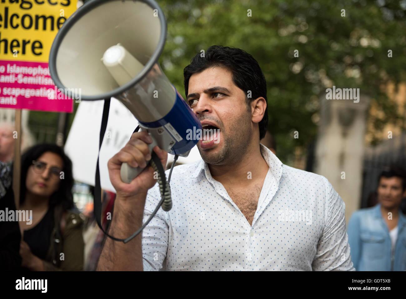 London, UK. 21st July 2016. Abdulaziz Almashi, Co-funder of the Syria Solidarity Campaign & Solidarity with - Stock Image