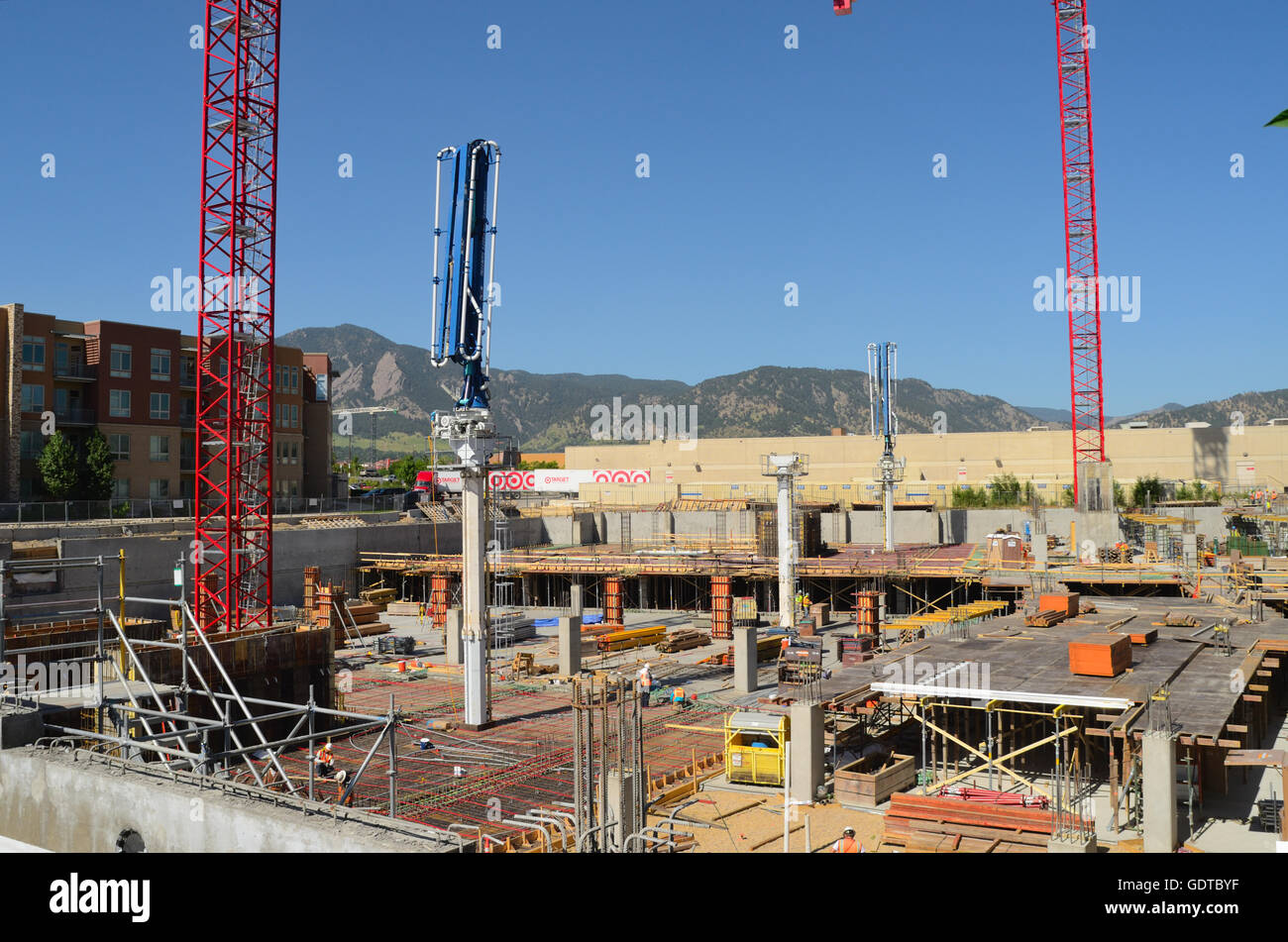 Commercial construction in Boulder Colorado - Stock Image