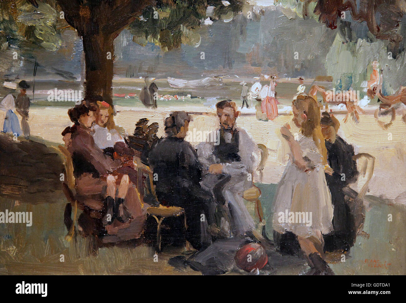 In the Bois de Boulogne near Paris 1906 by Isaac Israels 1865-1934 - Stock Image