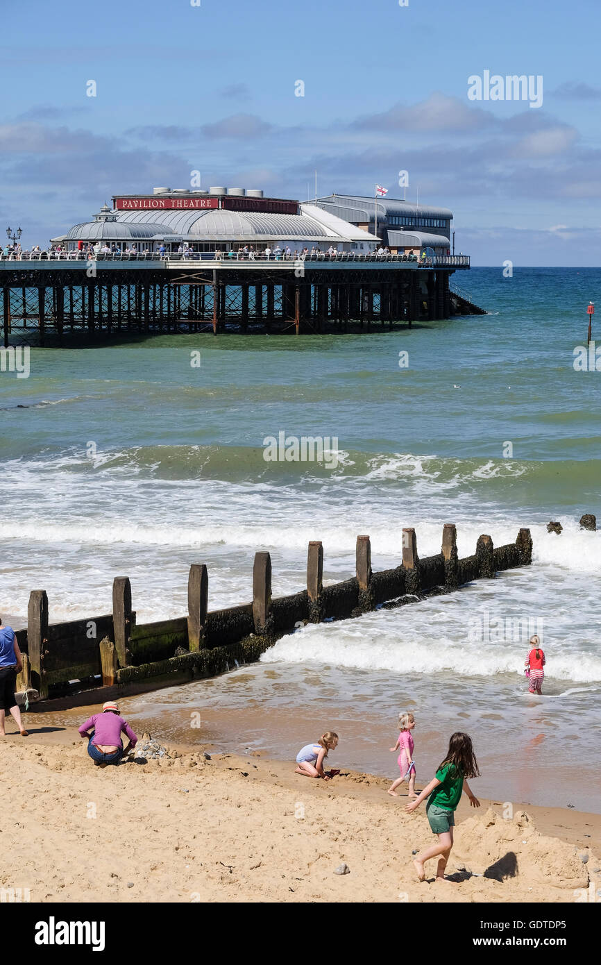 Cromer beach in Norfolk - Stock Image