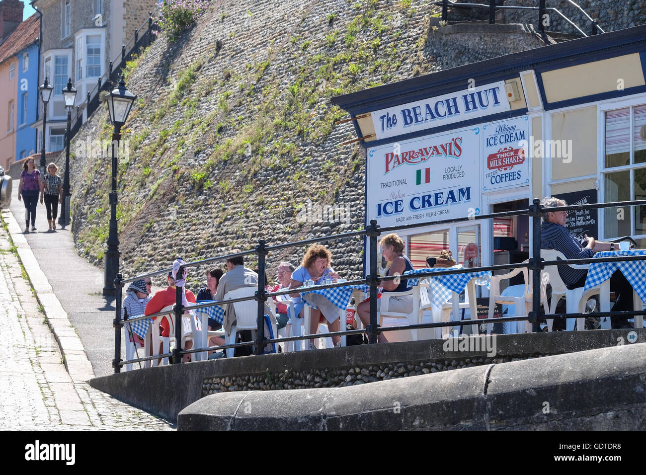 The Beach Hut Cafe in Cromer, Norfolk - Stock Image