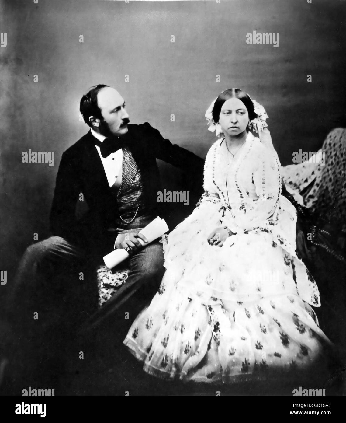 QUEEN VICTORIA with Prince Albert in 1854 - Stock Image