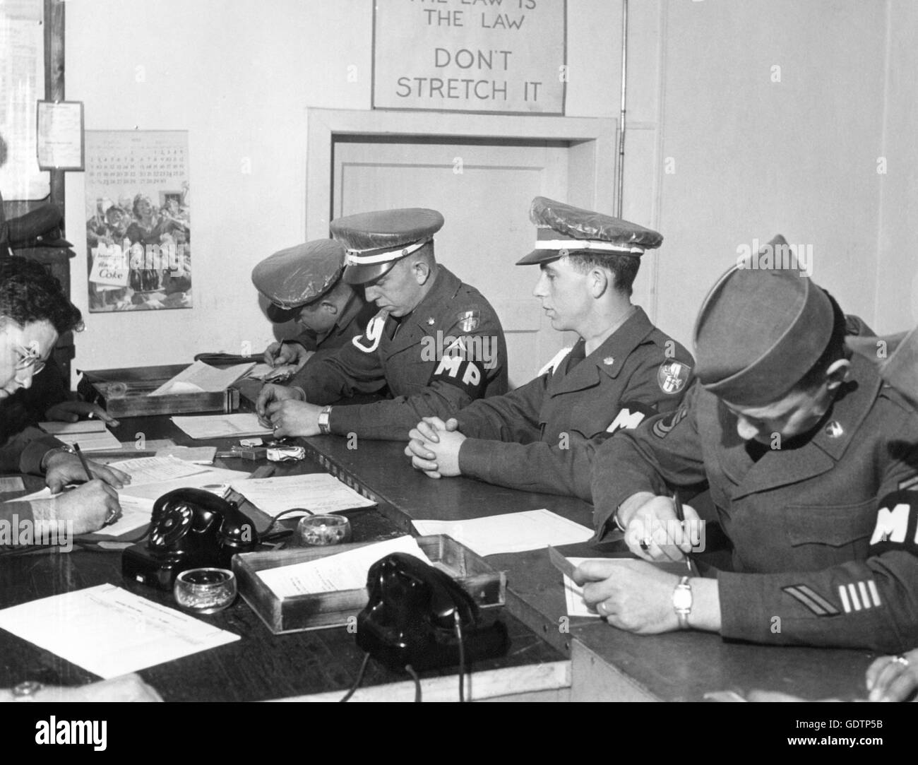 US Military Police during the occupation period - Stock Image