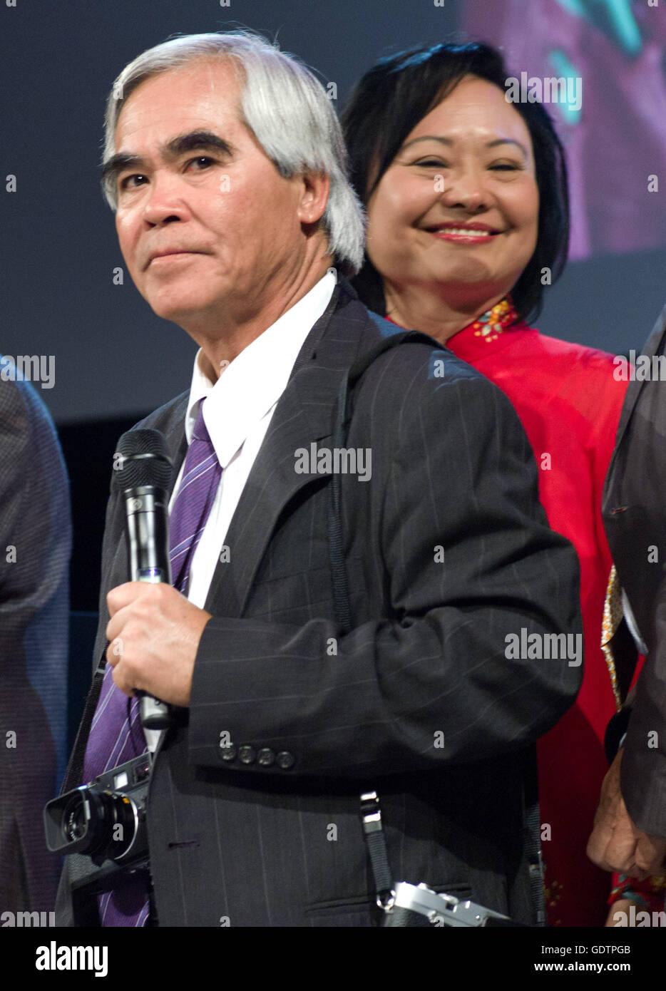 Nick Ut and Kim Phuc - Stock Image