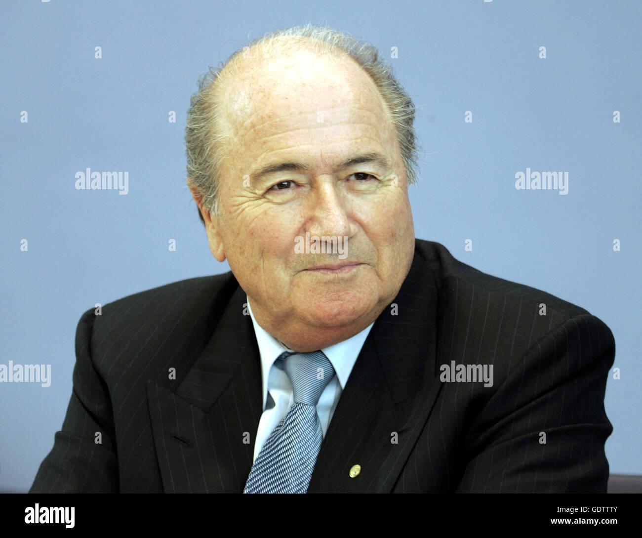 FIFA President Blatter - Stock Image