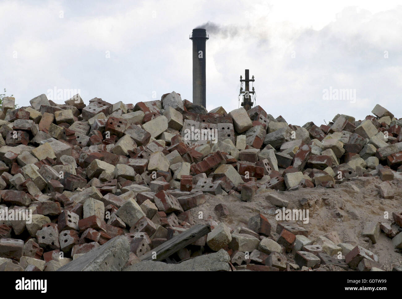 Demolished industrial plant in Bytom - Stock Image