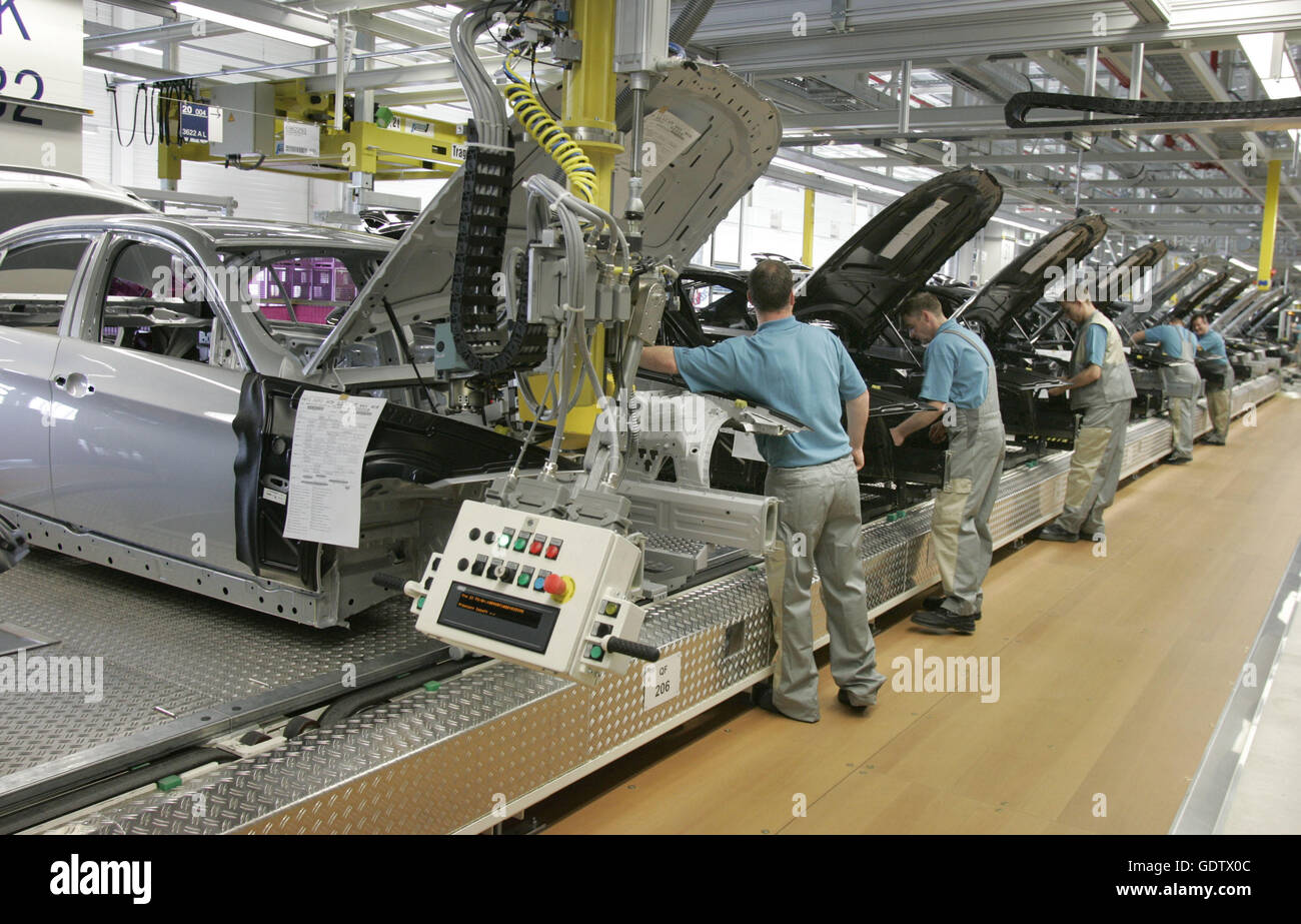 Bmw Plant Leipzig Stock Photo Alamy