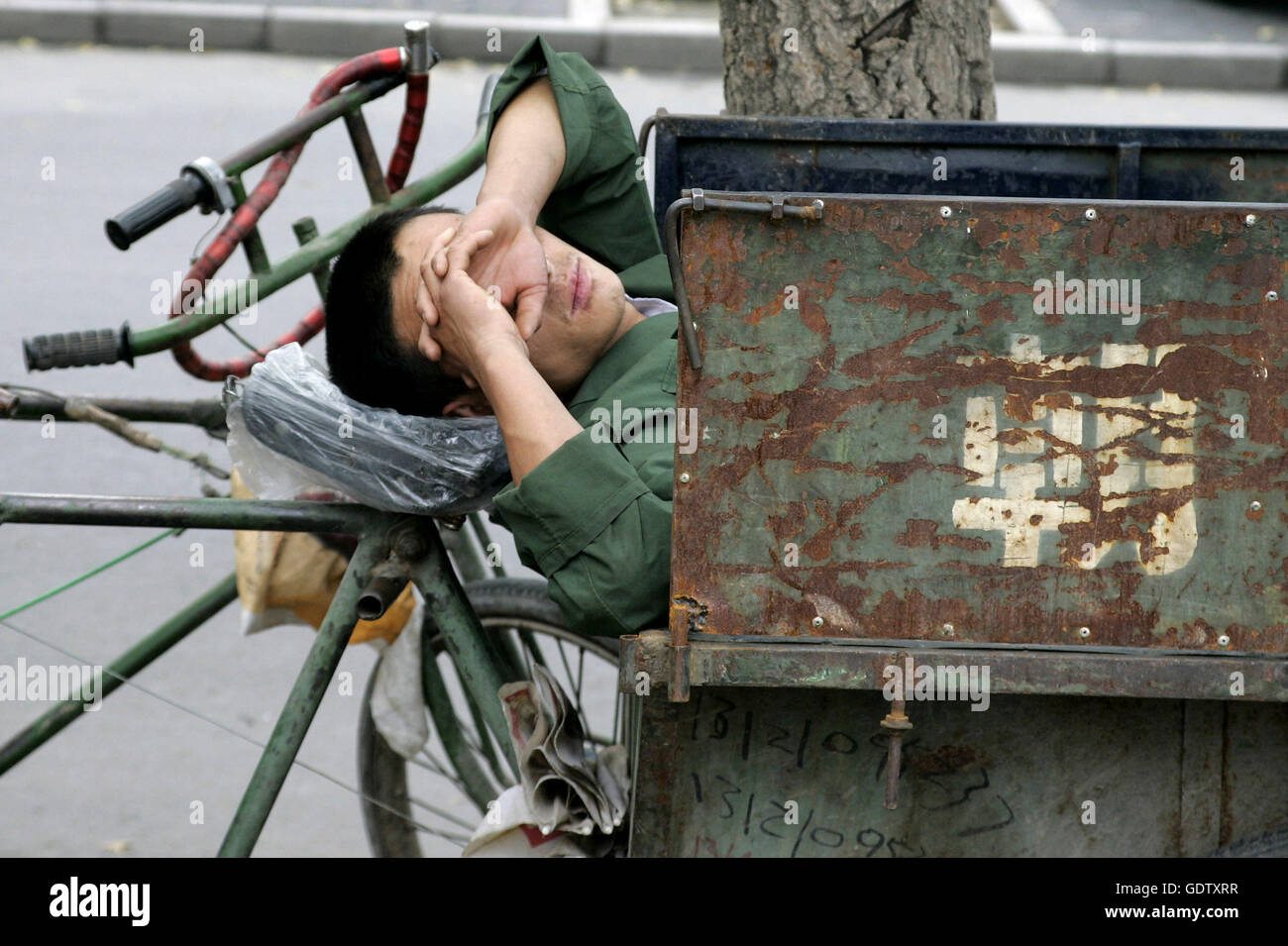 Deep sleep in Beijing - Stock Image