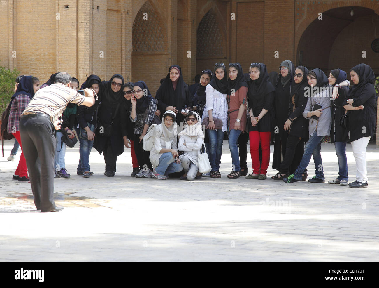 Group photo in Isfahan - Stock Image