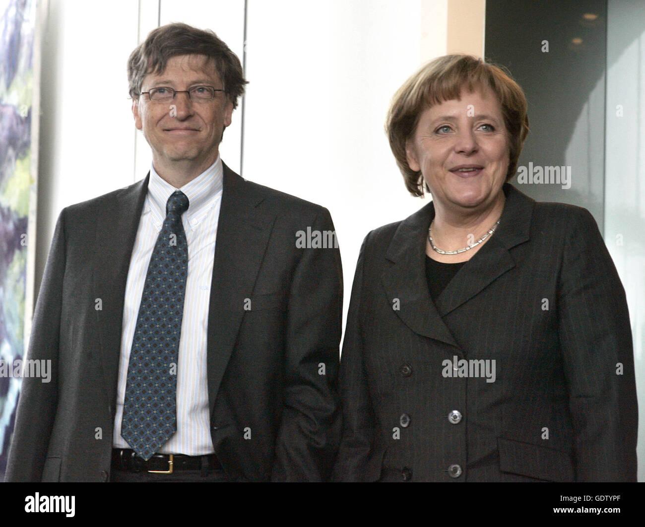 Gates Merkel - Stock Image