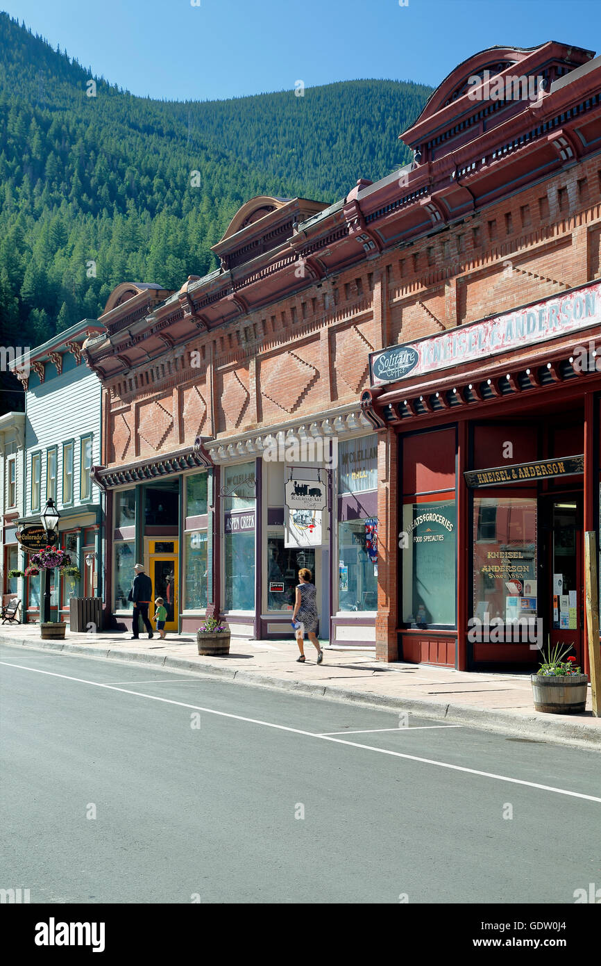 Shops and stores, Georgetown, Colorado USA - Stock Image