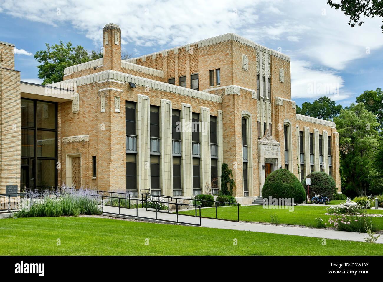 Chaffee County Courthouse (1932), Salida, Colorado USA - Stock Image