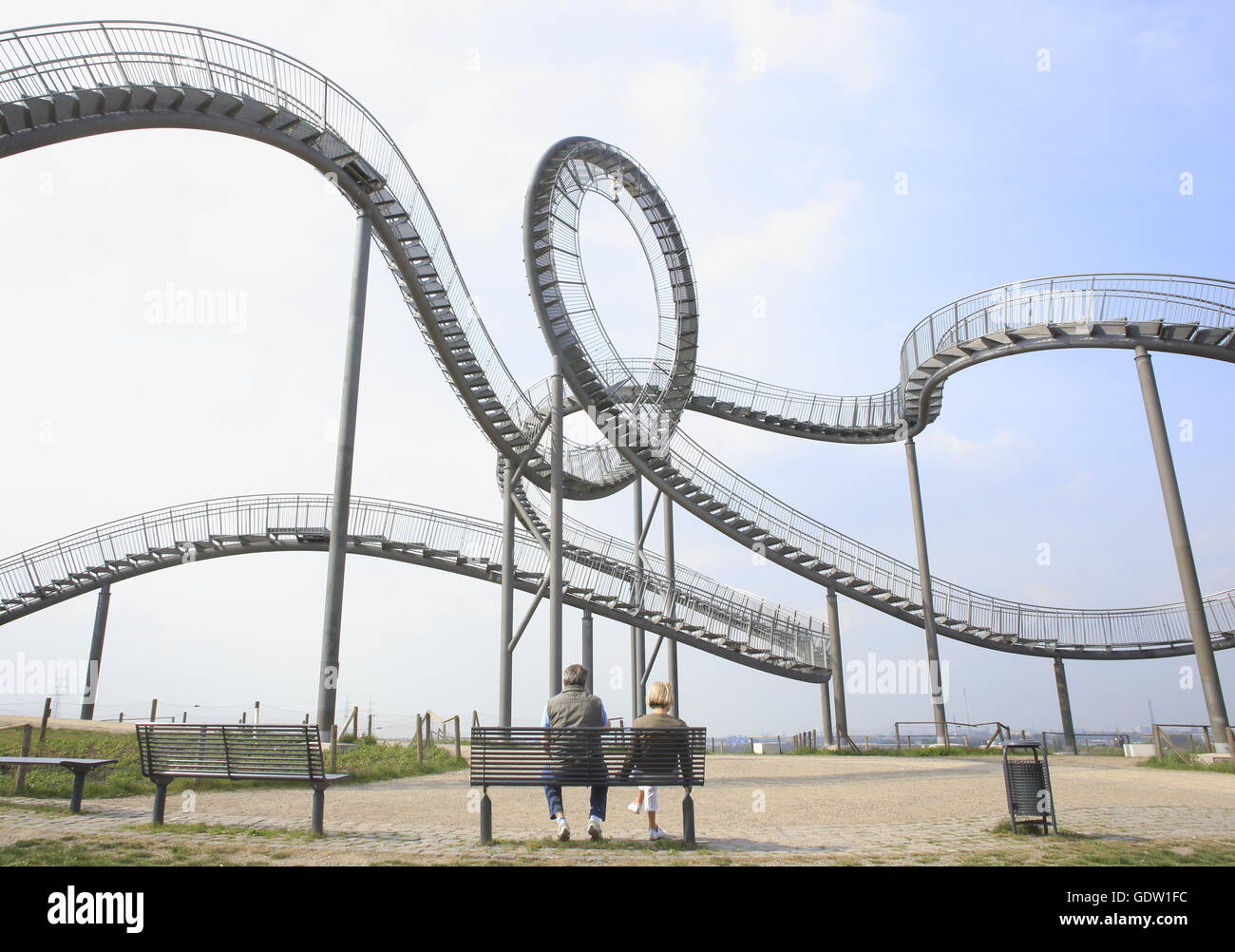 Tiger and Turtle - structural change in the Ruhr region - Stock Image