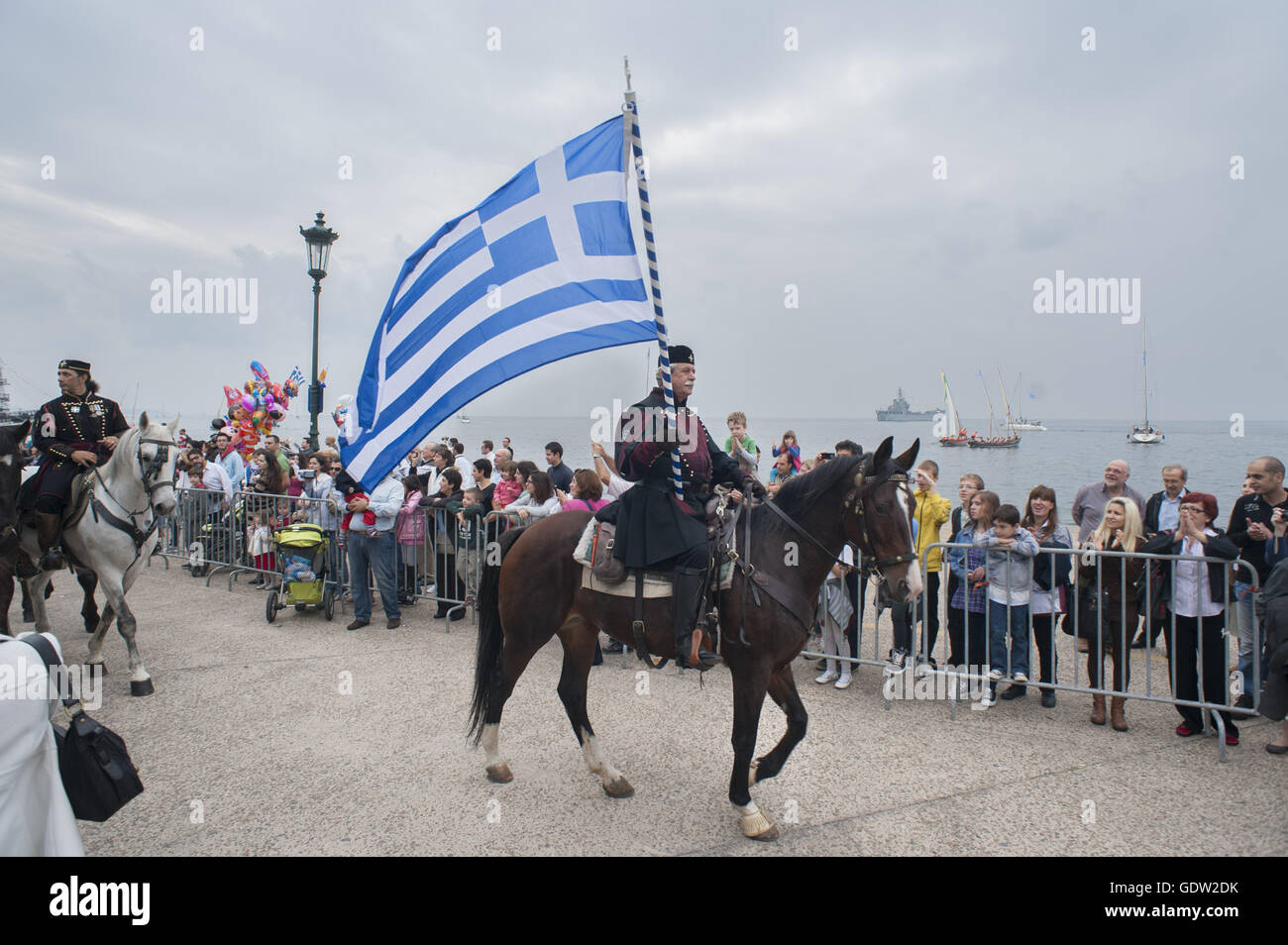 Celebrations marking the 100th anniversary of the liberation of Thessaloniki Stock Photo
