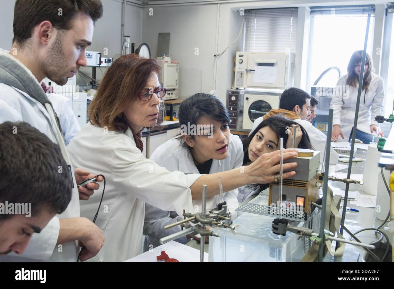 Laboratory instruction in physical chemistry, Aristotle University of Thessaloniki - Stock Image