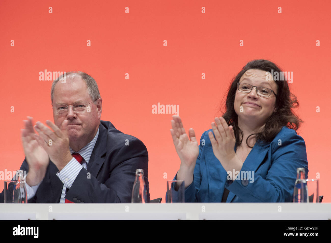 Steinbrueck and Nahles - Stock Image
