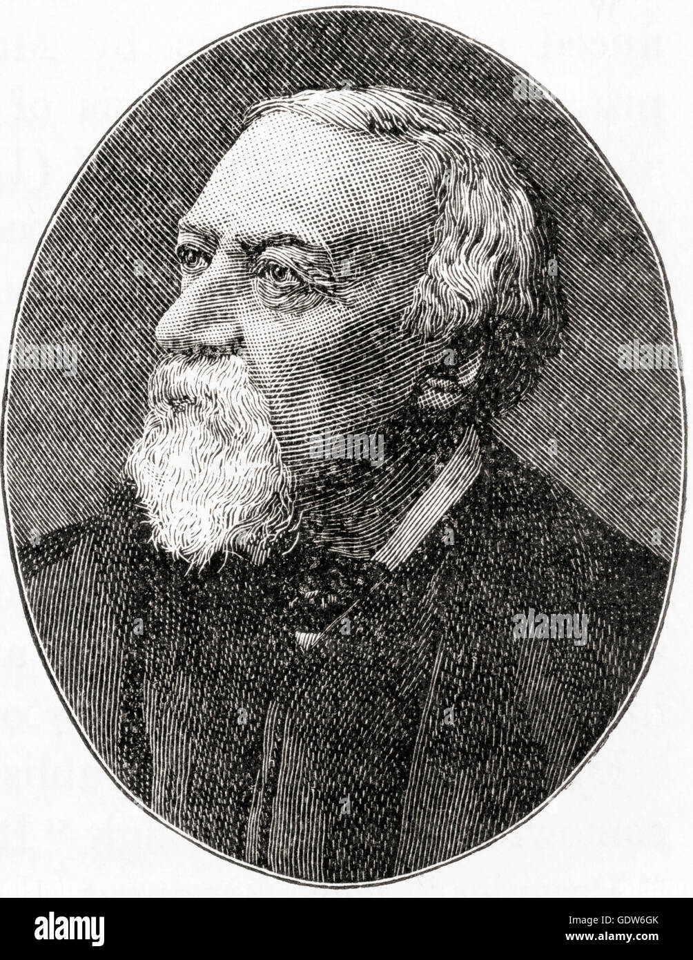 Robert Browning, 1812 –  1889.  English poet and playwright. - Stock Image