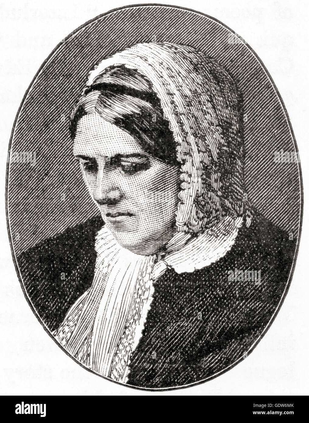 Harriet Martineau, 1802 –  1876.  British social theorist and Whig writer. - Stock Image