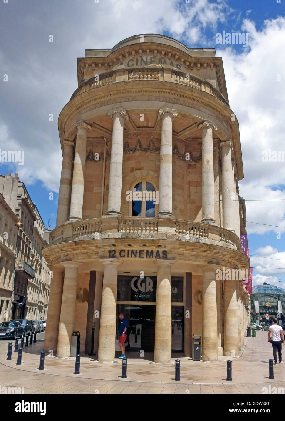 8 screen CGR cinema in old theatre building in Bordeaux, France