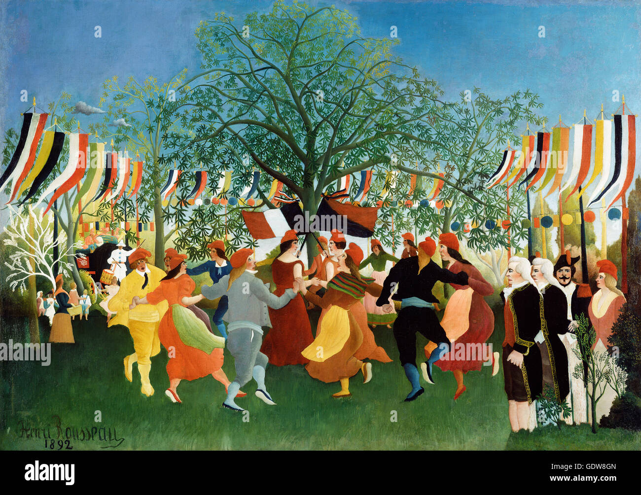 A Centennial of Independence by Henri Rousseau (1844-1910). Oil on canvas, 1892. Rousseau was a French Post-Impressionist - Stock Image