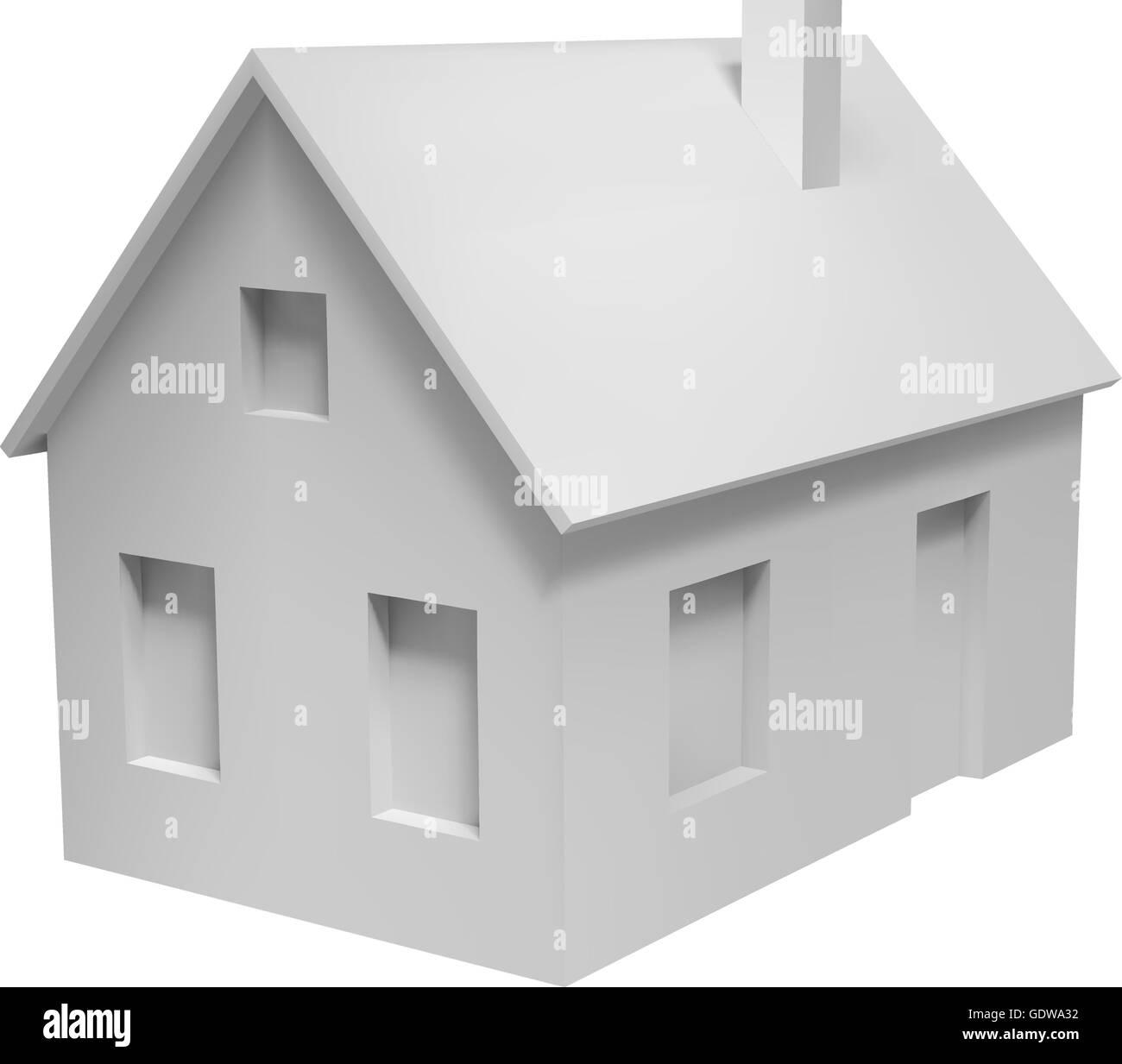 3d House Model Stock Vector Art Illustration Vector Image