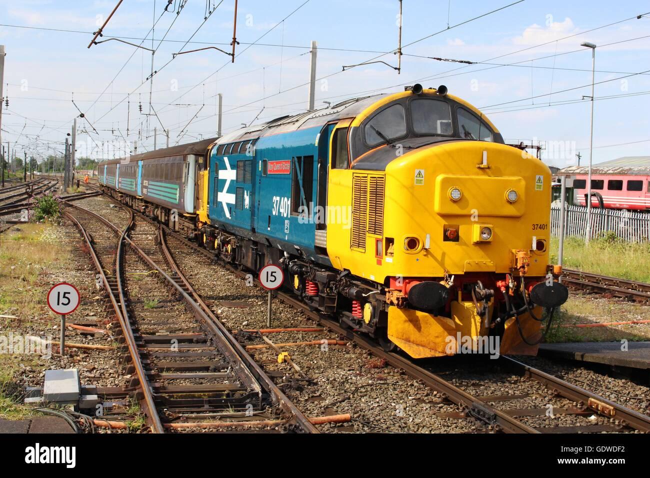 Class 37 Diesel Electric Locomotive Stock Photos & Class 37