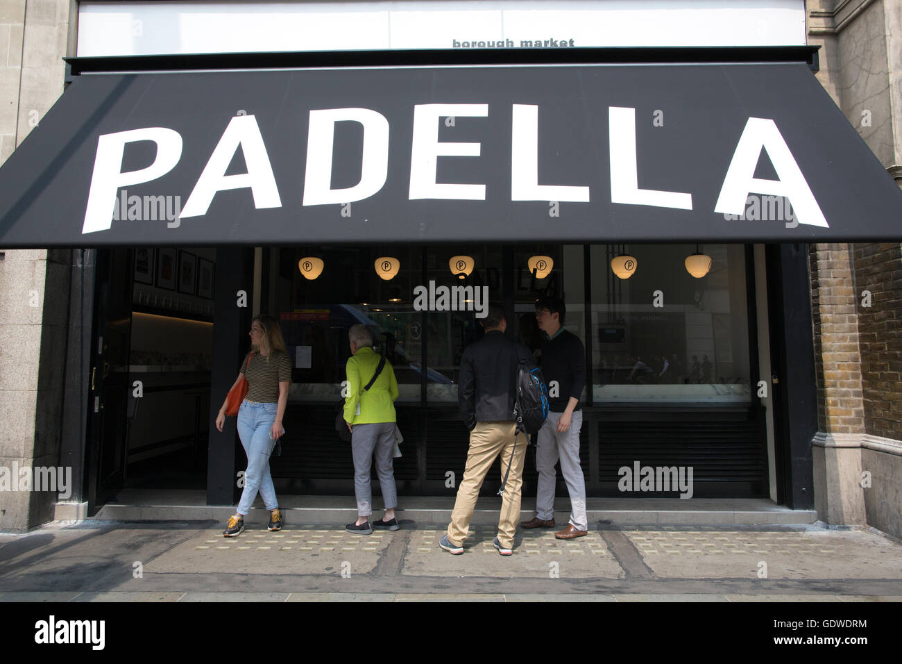 Padella, stylish new pasta restaurant, Borough Market, London, England, UK - Stock Image