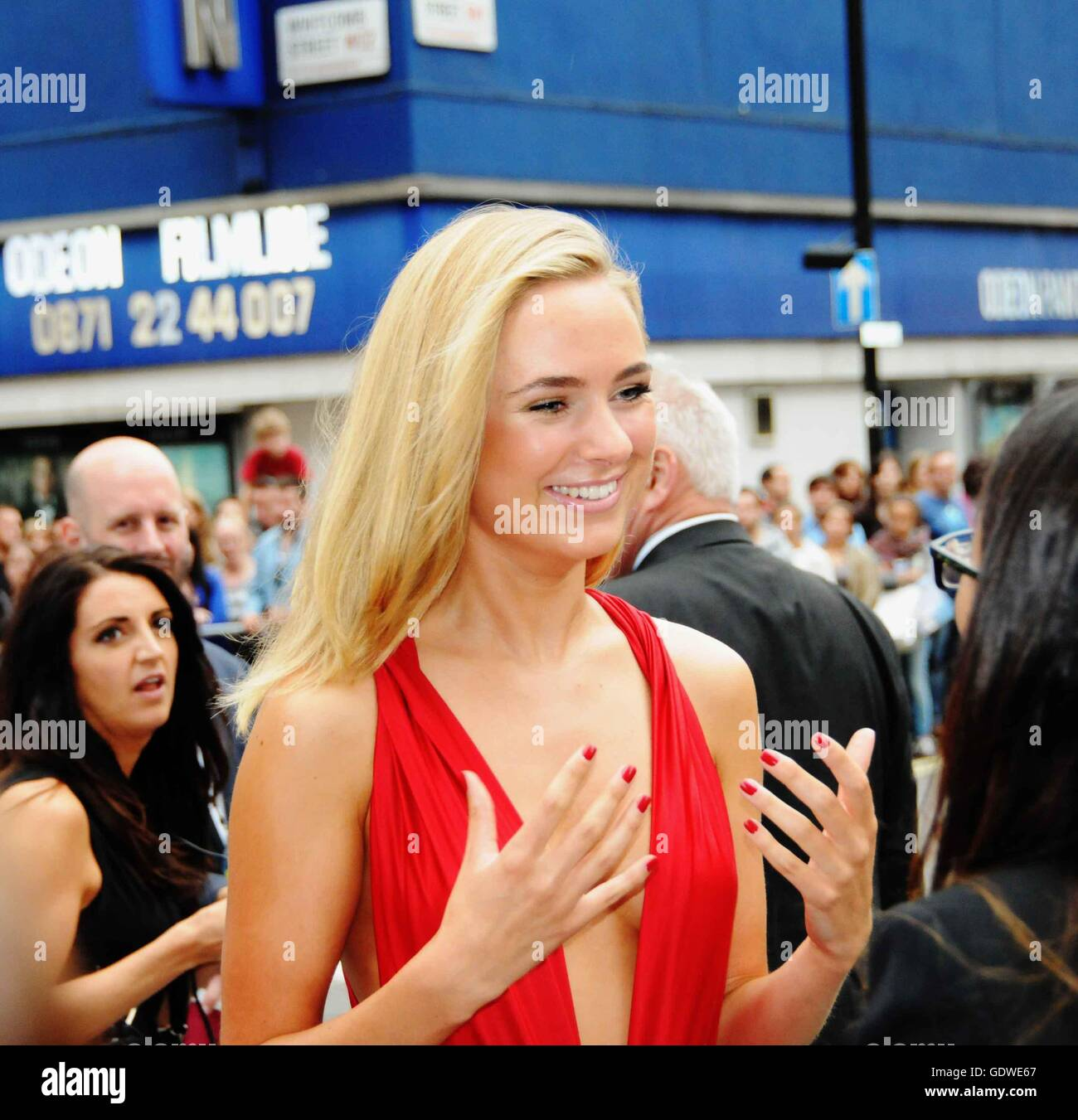 Kimberley Garner/Made in Chelsea, attends the London film premiere of Meet the Millers. - Stock Image