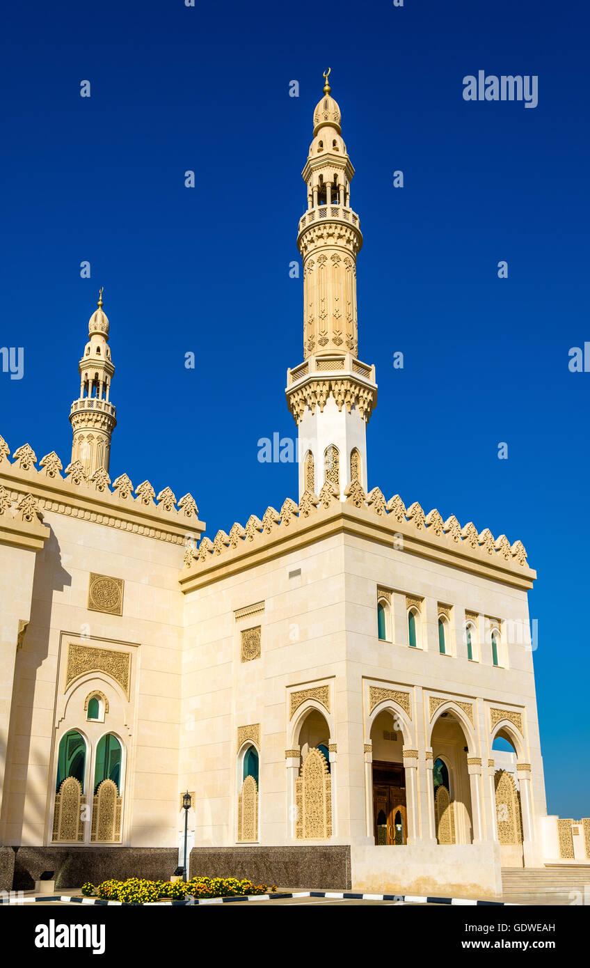 Minarets of Zabeel Mosque in Dubai, UAE Stock Photo