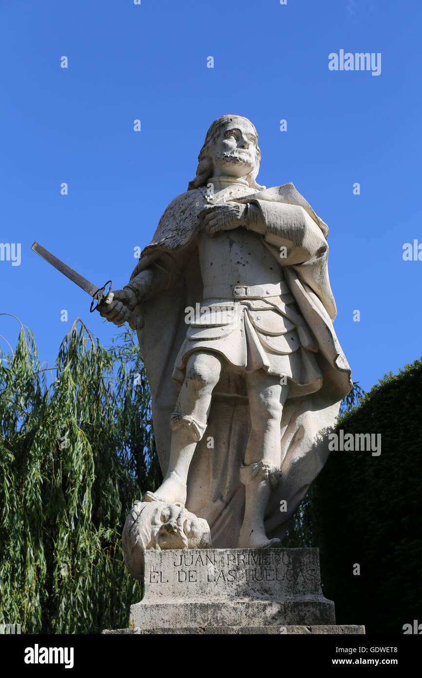 John I of Castile (1358-1390).  King of Crown of Castile. Statue. Burgos. Spain. - Stock Image