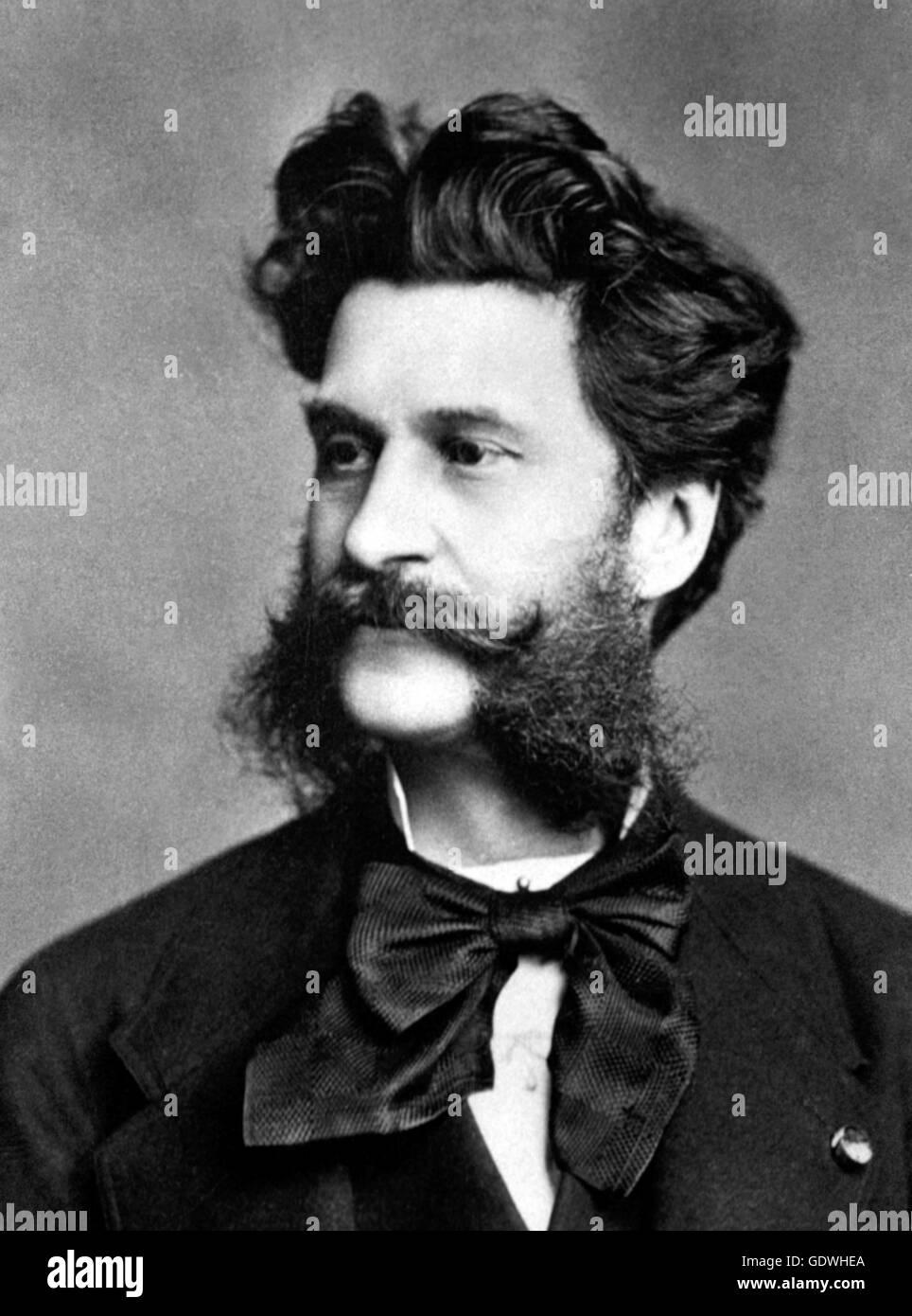 Johann Strauss. Portrait of the Austrian composer. - Stock Image