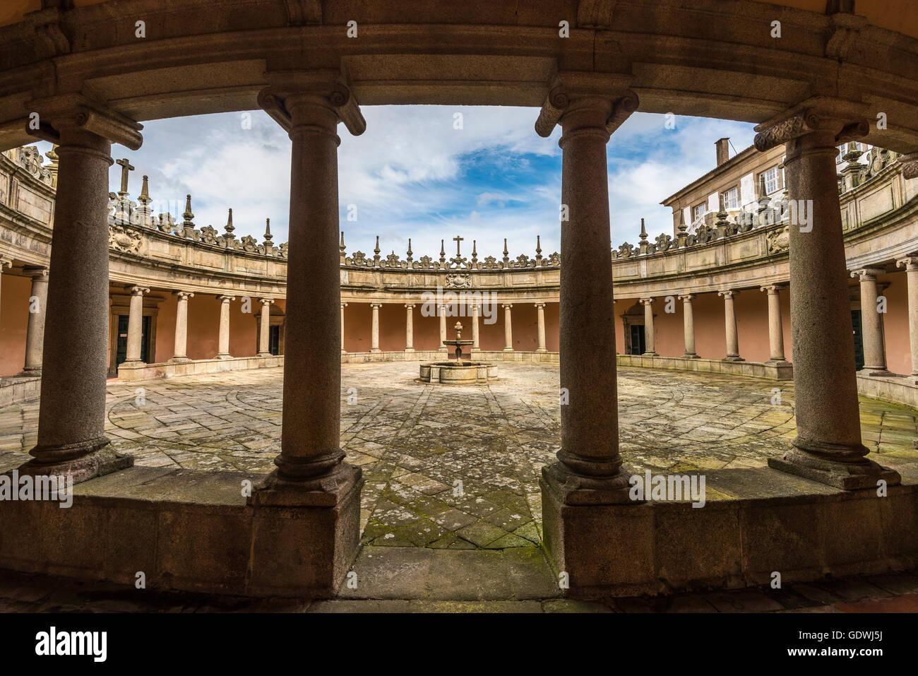 The circular cloister of the Mosteiro da Serra do Pilar, Porto, Portugal - Stock Image
