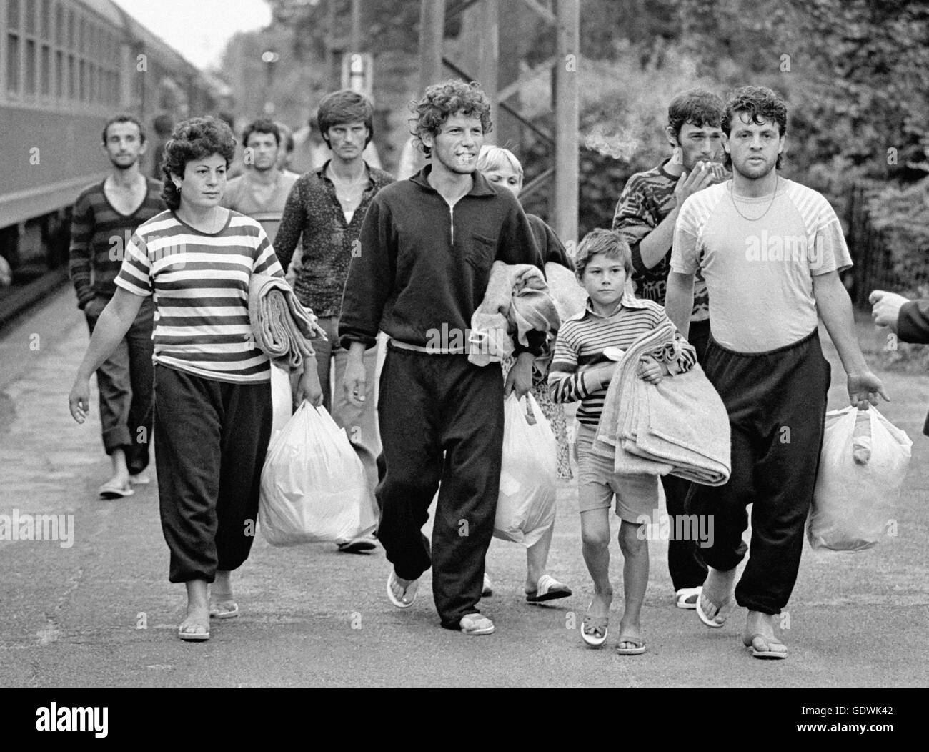 Albanian refugees - Stock Image