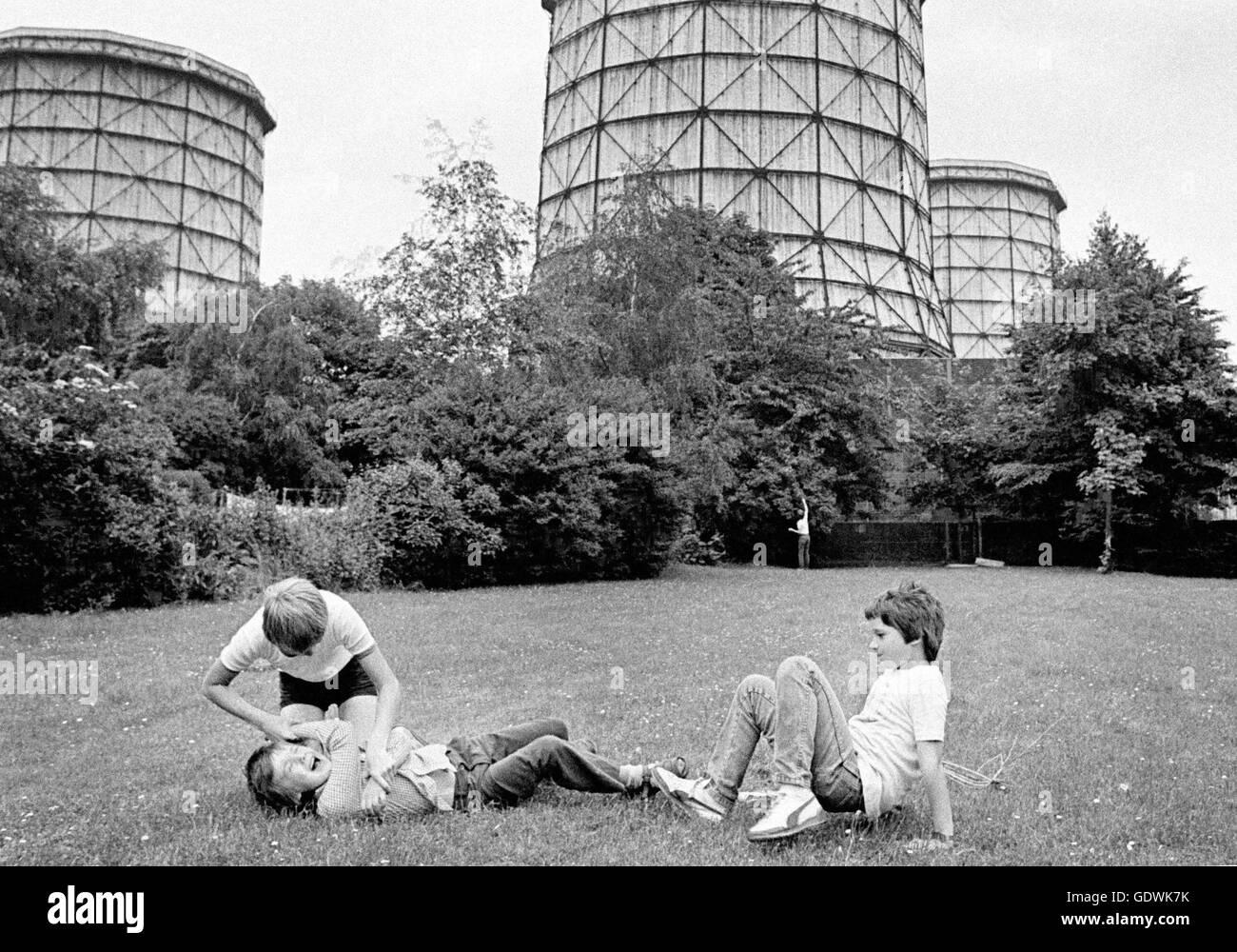 Children in the Ruhr region - Stock Image