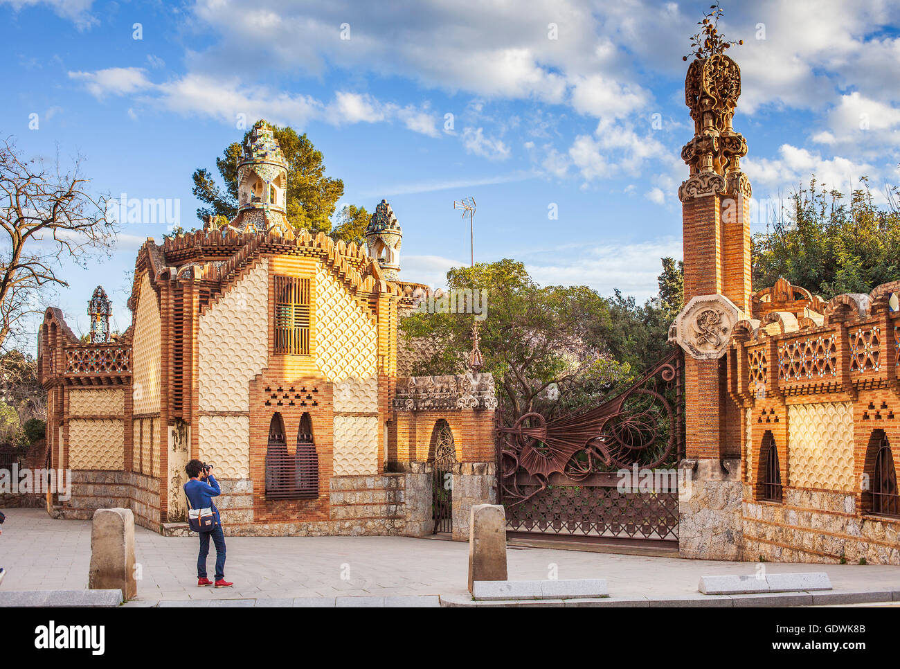 Pavellons De La Finca Guell By Antonio Gaudi Barcelona
