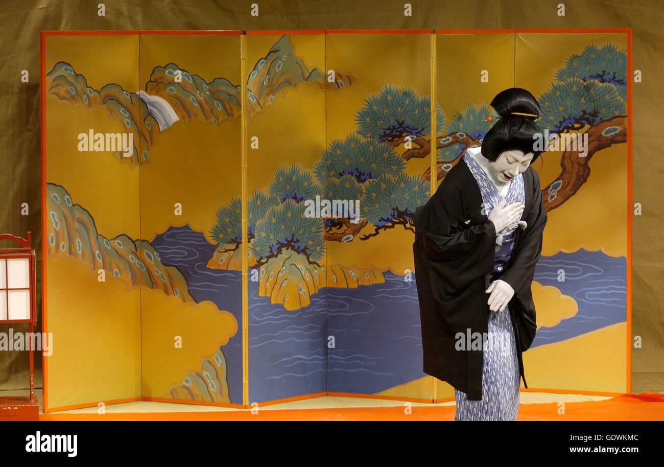 'Summer Festival: A Mirror of Osaka', Kabuki Theater - Stock Image
